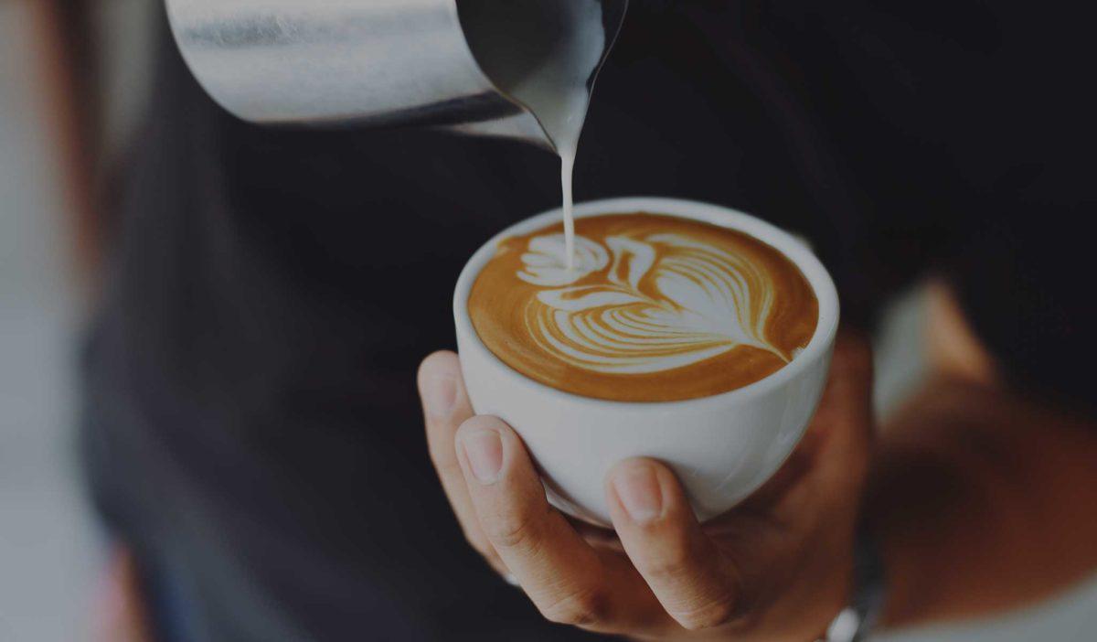 Latte Art im Kaffeeformat